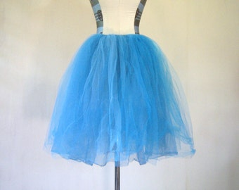 Bright Blue Tutu Petticoat Dance Costume