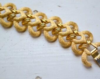 1960s Trifari Gold Link Bracelet