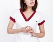 White cotton shirt, white T shirt, soft shirt, womens t shirts, womens shirts, summer shirts, womens tops, summer tops