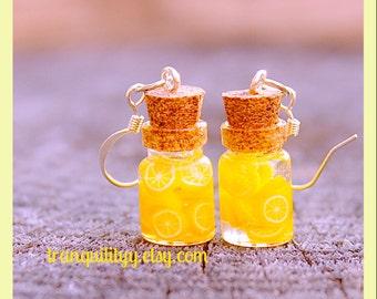 Lemonade Bottle Earrings / Necklace , Lemonade .05ml Bottle Earrings/ Necklace, handmade By: Von'Dez Redman