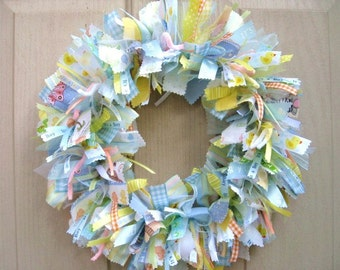 Baby Boy Nursery Decor, Baby Shower Decor, Hospital Door Hanger, Newborn Baby Boy Wreath, Boys Room Decor, Mothers Day New Mom Gift