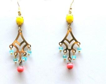 boho long earrings
