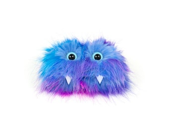 Kimi the Eco Friendly Monster- Colorful Furry Altered Altoids Tin. Great for gift cards, party favors, teen & child wallet - Kawaii