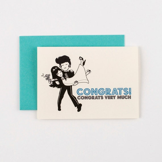 Elvis Congrats Wedding Greeting Card