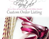 120 Magical Wedding Ribbon Wands IN YOUR COLORS (shown in deep gold) Add color to your wedding ceremony exit