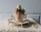 Upscaled Vintage Bottle - Home Decor, Shabby Chic, Cottage Chic, Display, Boudoir, Shelf, Bookcase, Housewarming, Collectible, Gift Idea