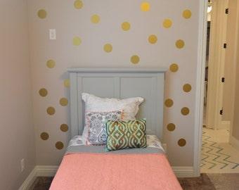 Polka Dots wall decals, Polka Dot Decal, Metallic Gold Polka Dot Vinyl Wall Art, Sticker EM101 Bubble Sheet