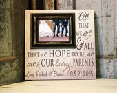 Thank You Gift For Parents, Parents Wedding Gift, Wedding Gift Parents, Personalized Picture Frame 16x16