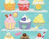 Cupcakes - Cross stitch pattern pdf format