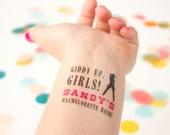 Bachelorette Tattoos, Cowgirl Bachelorette Bash, Giddy Up, Personalized Tattoo, Custom Tattoo, Party Favor, Bachelorette Party Favor