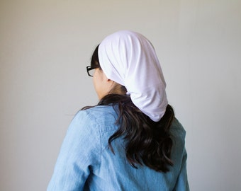 Classic White Long Stretch Knit Headcovering | Women's Headcovering Veils