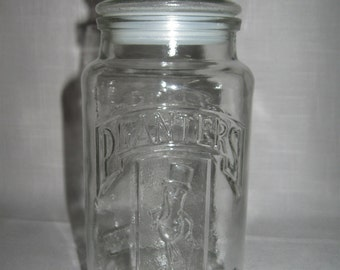 Glass Canister Decanter Mr Peanut Planters 75th Anniversary 1906-1981
