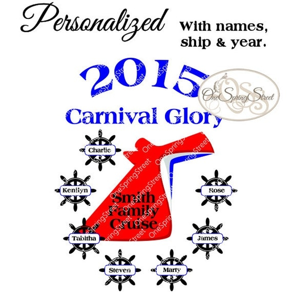 Carnival Cruise Any Ship Personalized Family By