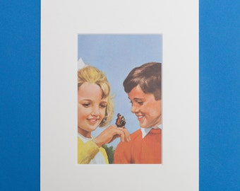 Peter and Jane Print from a Vintage Ladybird Book