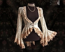 Cardigan, Victorian, Art Nouveau, cottage chic, ivory, Maeror, Somnia Romantica, size extra small - small see item details for measurements