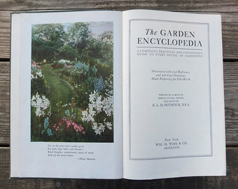 Vintage 1936 Garden Encyclopedia