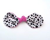Super Cute Dalmatian Print Hair Bow Clip for Women or Girls!