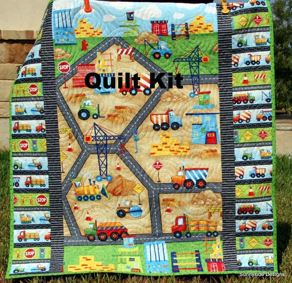 Last Four Construction Quilt Kit Baby From The Ground Up