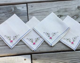 Cloth Napkins Linen Napkins Embroidered Napkins Dinner Napkins