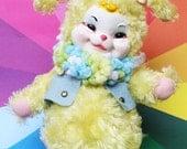 Vintage Rushton Company Yellow Rabbit/Bunny stuffed toy