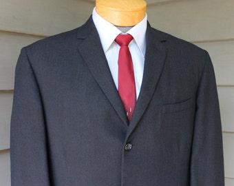 vintage 50's - 60's -Alexandre- Men's suit / sport coat. Skinny lapel - 3 button SB - Natural shoulder.  Multi-color weave. England. 40