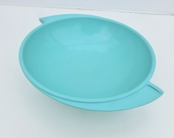 Boonton Melamine Bowl Turquoise with Winged Handles 604-10
