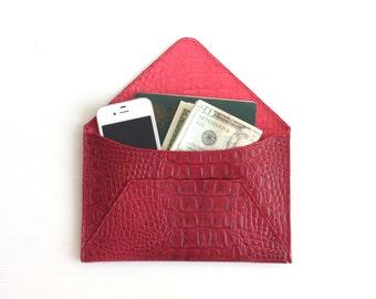 Leather Envelope Wallet. Leather Wallet. Envelope Wallet. Women Leather Wallet. Travel Document Holder. Leather Organizer. Cash wallet