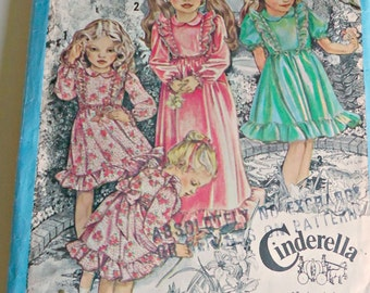 SALE  Simplicity 9354 Ruffled Cinderella Dress Pattern Child Size 6  1979