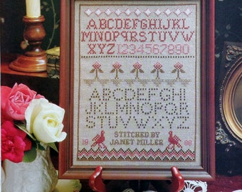 BERRY And BIRDS SAMPLER Counted Cross Stitch Pattern Chart - fam