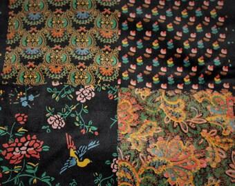 70's F.A. Chata Velvet Maxi Skirt, sz 11/12