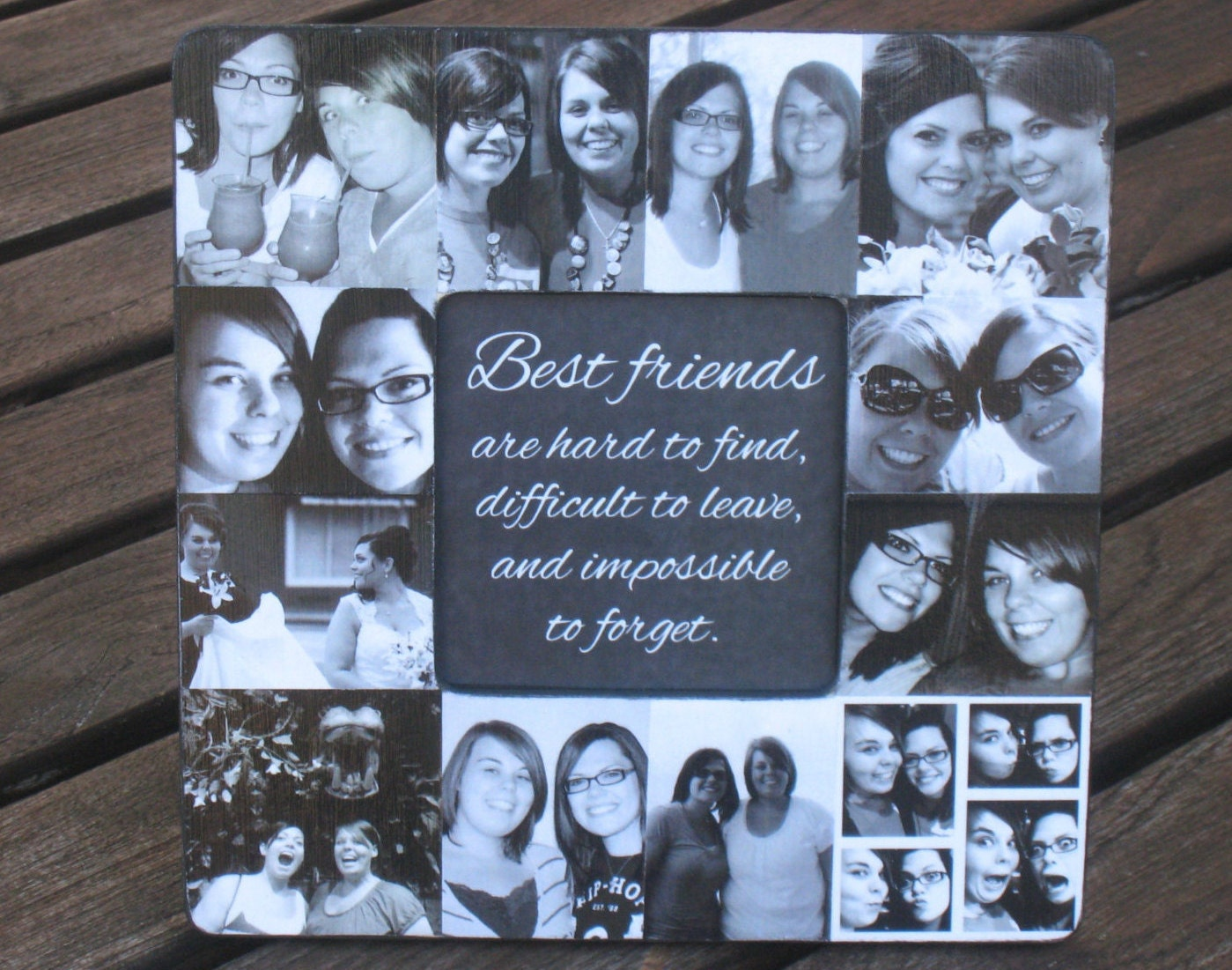 Perfect Wedding Gift For Best Friend: Best Friends Collage Picture Frame Personalized Maid Of