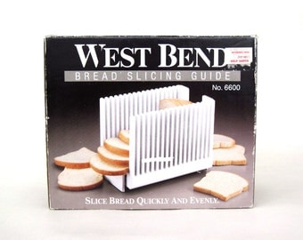 West Bend Bread Slicing Guide 6600X Folding White Plastic Vintage 1997