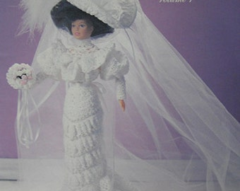 Paradise Publications Crochet Collector Costume Fashion Doll Pattern 1905 Wedding Gown Volume 1