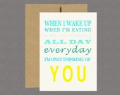 Military Greeting Card - Thinking of You - Care Package, Boot Camp, Basic Training, Deployment