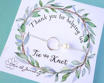 Wedding jewelry gift Set of 6: Bridesmaid cards with BRACELETS, Bridesmaid gifts, bridesmaid thank you cards, bracelets for bridesmaids