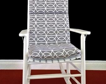 Rocking Chair Cushion Cover - Dwell Studio Bella Porte Charcoal