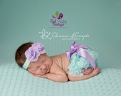 Baby Bloomers, Aqua Ruffle Back Baby Bloomer, Lavendar Baby Bloomers, Baby Girl Diaper Cover, Baby Diaper Covers, Cake Smash Outfit