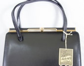 Vintage Black Leather Ackery London Purse with Original Tags