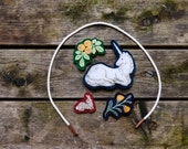 """Handmade Montessori Work. """"The Lady's Unicorn."""" Embroidered Play Table Toy by Aly Parrott on Etsy"""