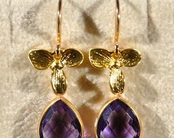 SALE Amethyst Earrings - February Birthstone Amethyst Earrings - Birthstone Jewelry