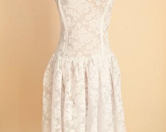 Strapless Wedding Dress | Strapless Lace Dress | Bohemian Wedding Dress | Corset Wedding Dress | Boho Chic Summer Wedding Dress