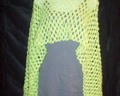 Romantic Lace Wrap with Fringe - Lime Green