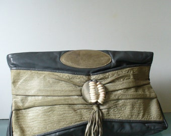 Vintage X Large Bags By Pinky Grey Clutch Bag