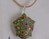Green Sea Turtle Pendant ~ Sea Turtle Jewelry ~ Sea Turtle Necklace ~ Minimalist Necklace ~ Boho Necklace by Classon Creations
