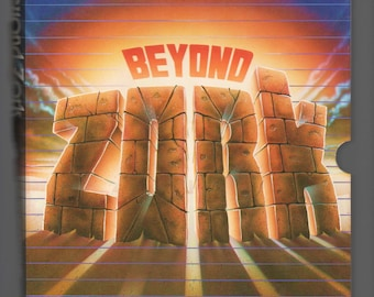 Beyond Zork, Text based RPG computer game complete in box with all the feelies for PCDOS and MSDOS 1987 big floppies and 1988 3-1/2 floppy