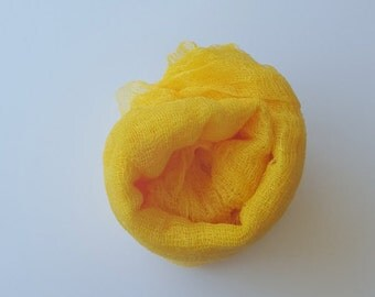 Yellow Newborn Cheesecloth Hand Dyed Boy Girl Photo Prop Dyed Upon Order
