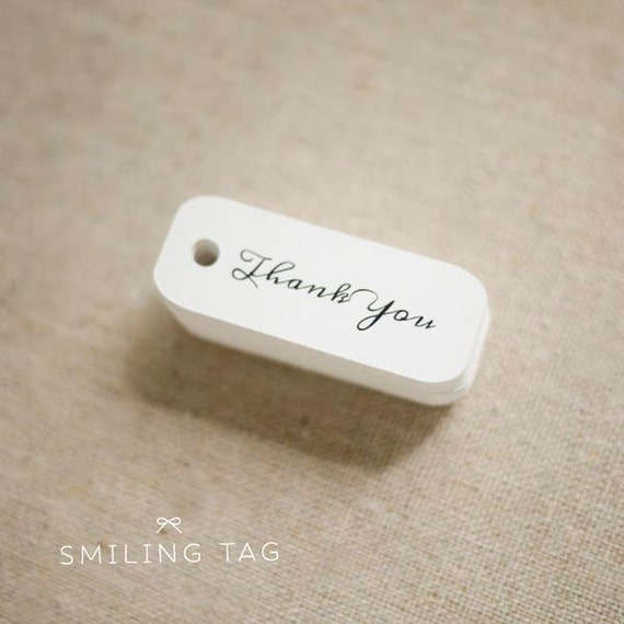 Miniature Thank You Gift Tags - Wedding Favor Tags - Thank You Gift Tags - Hang tags - Wedding Gift Tags - Set of 40 (Item code: JS244)