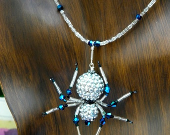 Beaded  Spider Necklace Spider Jewelry