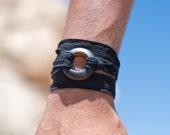 Beer Bottle Black Ribbon Wrap Bracelet | Women and Mens Jewelry