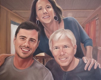 Custom Family Portrait - Custom Painting of Family - Oil Painting - Perfect Gift